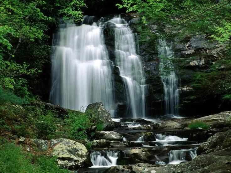 Shower under a waterfall