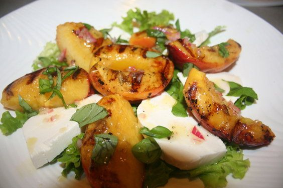 grilled peaches amp cream y mozzarella salad a recipe on food52