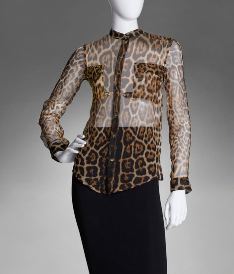 Ysl Sheer Blouse 91