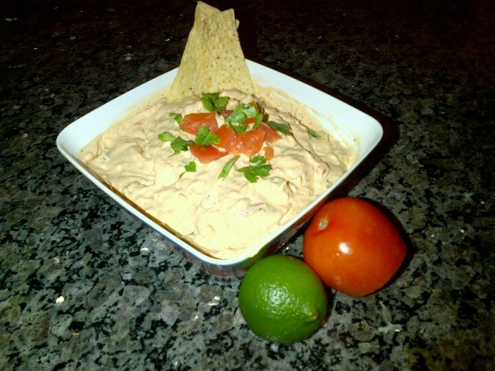 ! Chicken Fajita Dip. Cream cheese, sour cream, green and red pepper ...