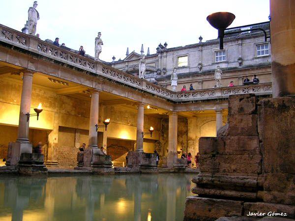Las termas romanas de Bath.