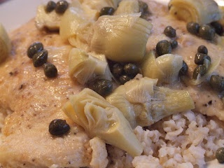 Chicken Piccata with Capers and Artichokes. *Hold the Lima Beans and ...
