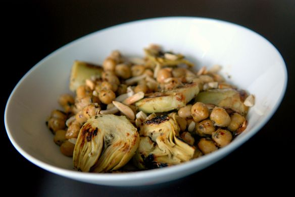 warm chickpea and artichoke salad | Live to Eat.... | Pinterest