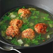 Escarole Soup with Turkey Meatballs, Recipe from Cooking.com