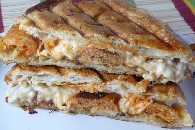 Buffalo Chicken Sausage Panini | tastylicious!!! | Pinterest