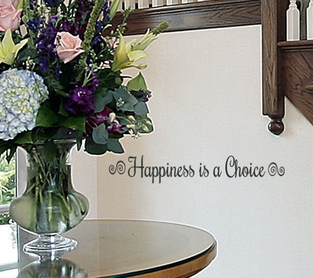 Happiness is a Choice decal inspirational wall decal quotes for teens ...