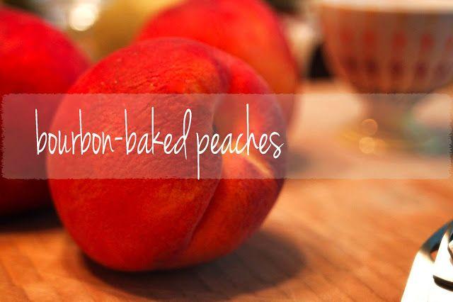 Bourbon + peaches! | let's bake | Pinterest
