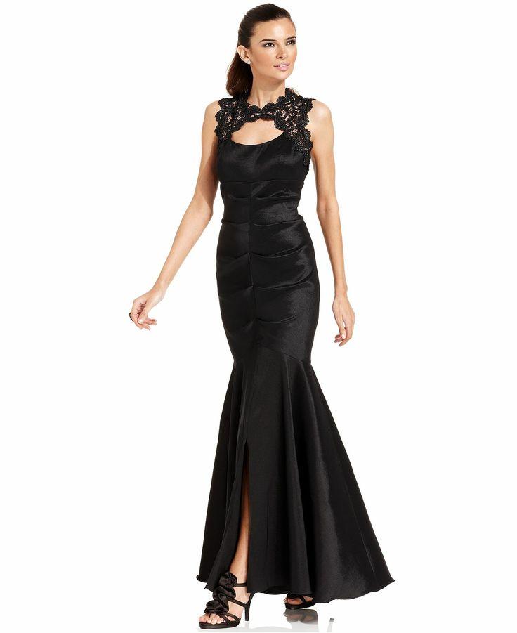 Xscape Sleeveless Glitter Lace Mermaid Gown - Dresses - Women - Macy's
