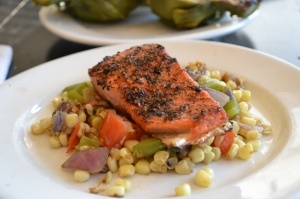 Grilled Salmon with Roasted Corn Relish | This Country Girl Cooks | P ...