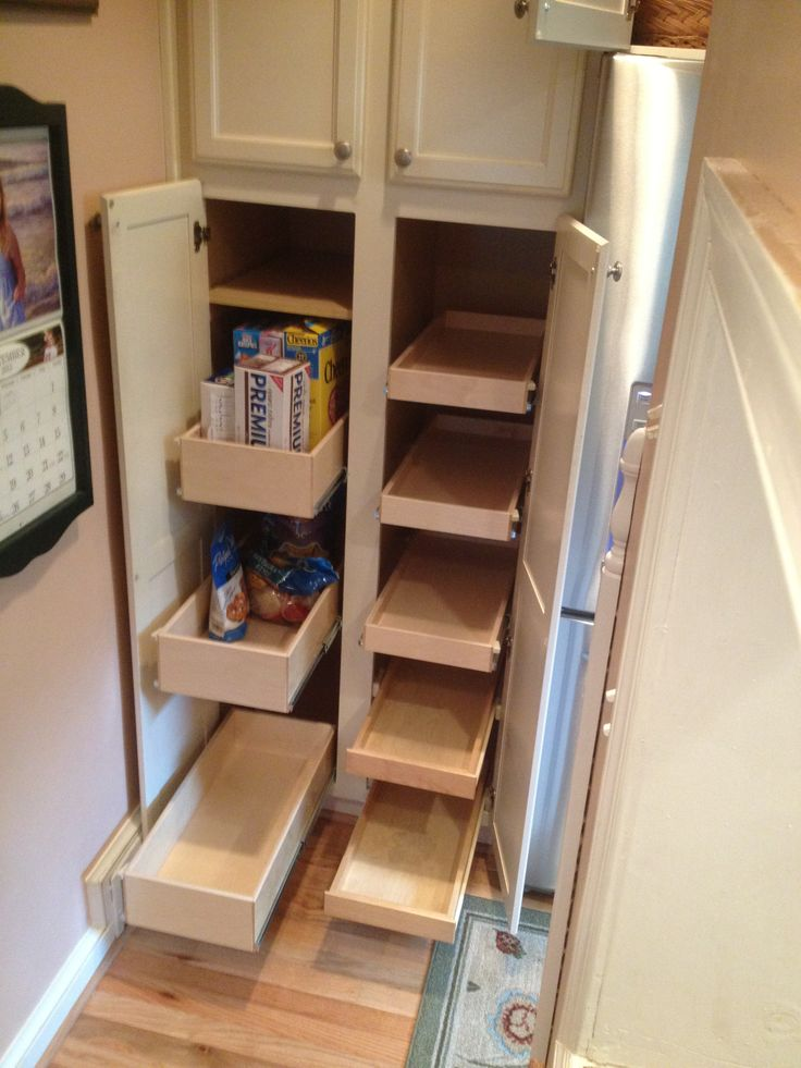 Pin by leeann breedlove vaughn on kitchen pinterest for Narrow pull out kitchen storage