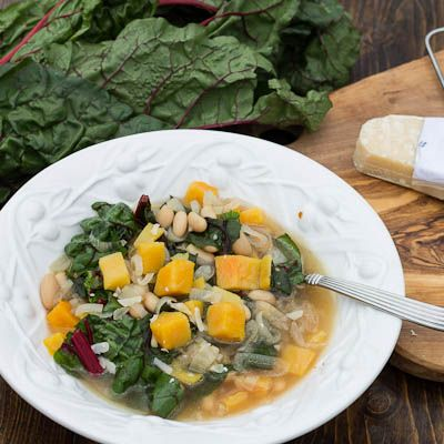 Cannellini Bean and Swiss Chard Soup | Yummy things to make. | Pinter ...