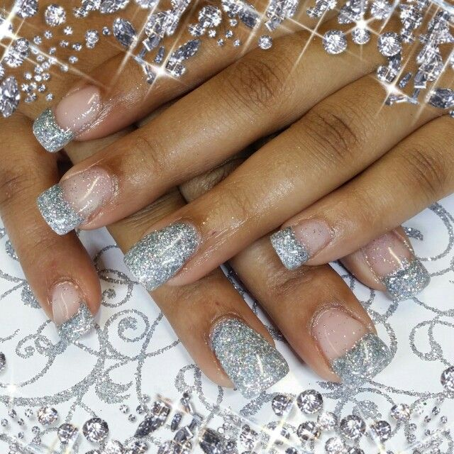 Silver Prom Nails: Silver Prom Nails