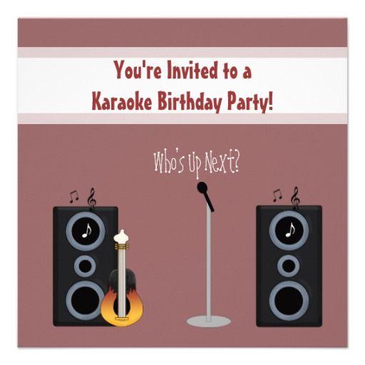 karaoke party online invitation