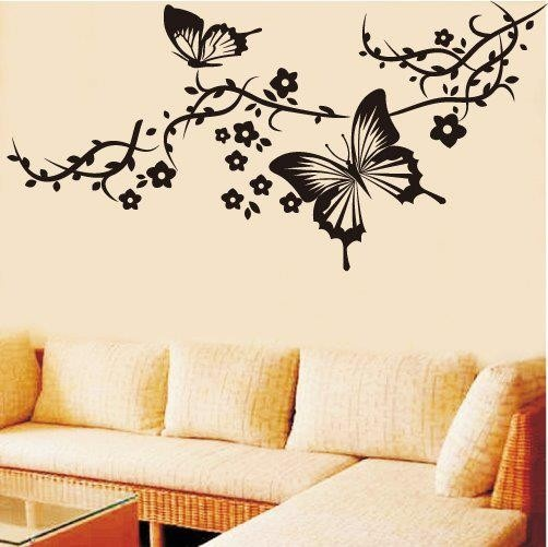 living room wall art butterfly drawings pinterest. Black Bedroom Furniture Sets. Home Design Ideas