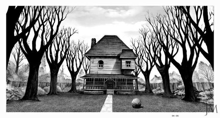 Monster House, Jim Martin Design: www.pinterest.com/pin/333829391100913543
