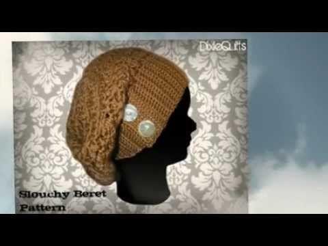 Crochet Beret Pattern PDF Easy Slouchy Slouch by beaknitting