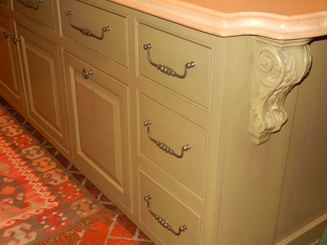 The French Tangerine ~ andy moor Pretty cabinet color and love the