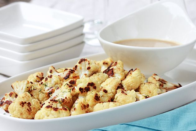 Crispy Roasted Cauliflower with Tahini Sauce | Recipe