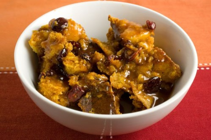 Bourbon-Spiked Pumpkin Bread Pudding (Crock Pot)