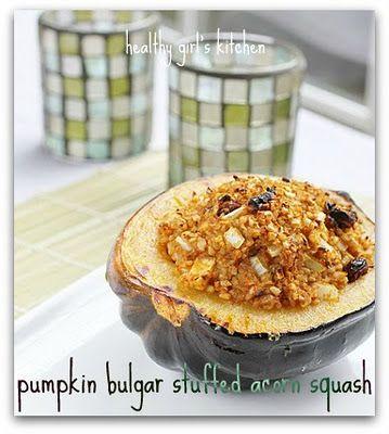 Pumpkin Bulgar Stuffed Acorn Squash | What We're Eating | Pinterest