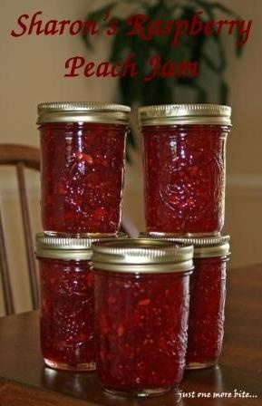 Raspberry-Peach Jam--I just finished a batch of this jam and it is ...