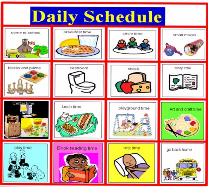 Daily Schedule Images  September Printable Calendars