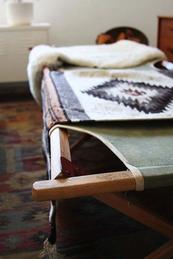 Vintage Military Camping Cot by owsupply on Etsy