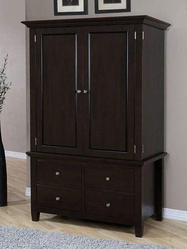 Clothing Armoire Wardrobe ~ Wardrobe closet wood armoire