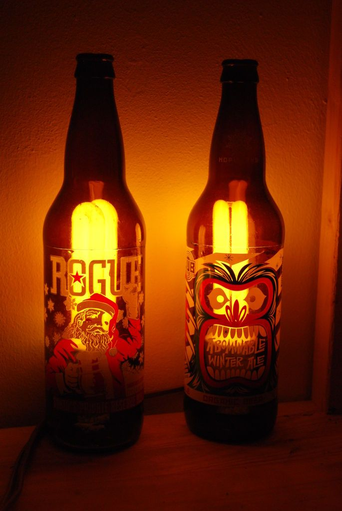 Beer Bottle Lamps DIY - Instructables.  Things to make and do and gr ...