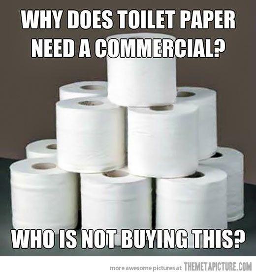 toilet paper joke, toilet paper commercial