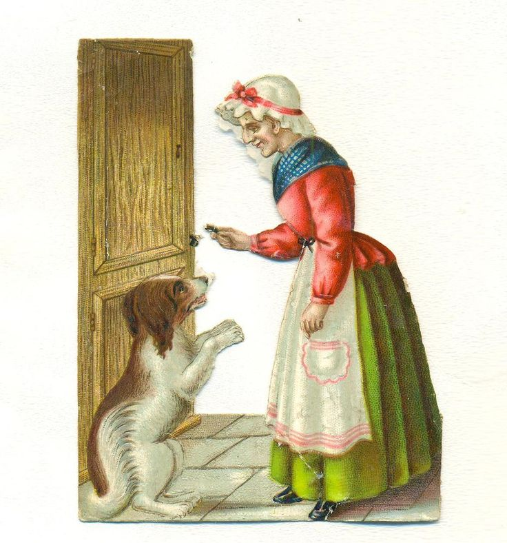 victorian   scrap old mother hubbard
