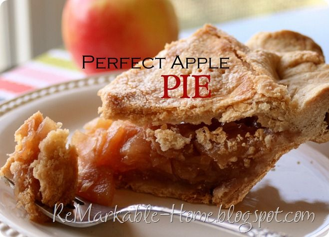 Perfect Apple Pie Recipe | All things Autumn! | Pinterest