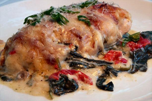 """Chicken Florentine Casserole: """"This was SO good! We loved the garlic ..."""