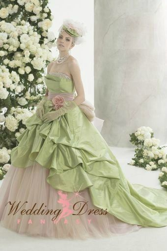 Wedding Dress Color Green : Light green wedding dress available in every color