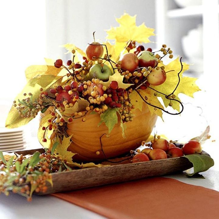 Pretty fall centerpiece shabby chic pinterest for Apples decoration