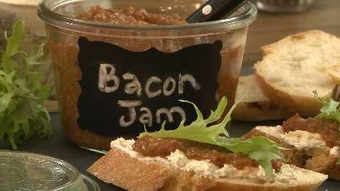 see how to make bacon jam. Crispy bacon stars with brown sugar, maple ...