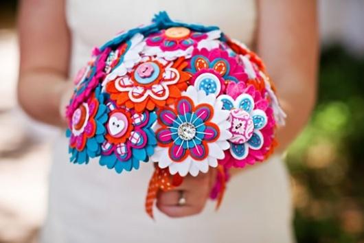 Bouquet de tecido - feltro