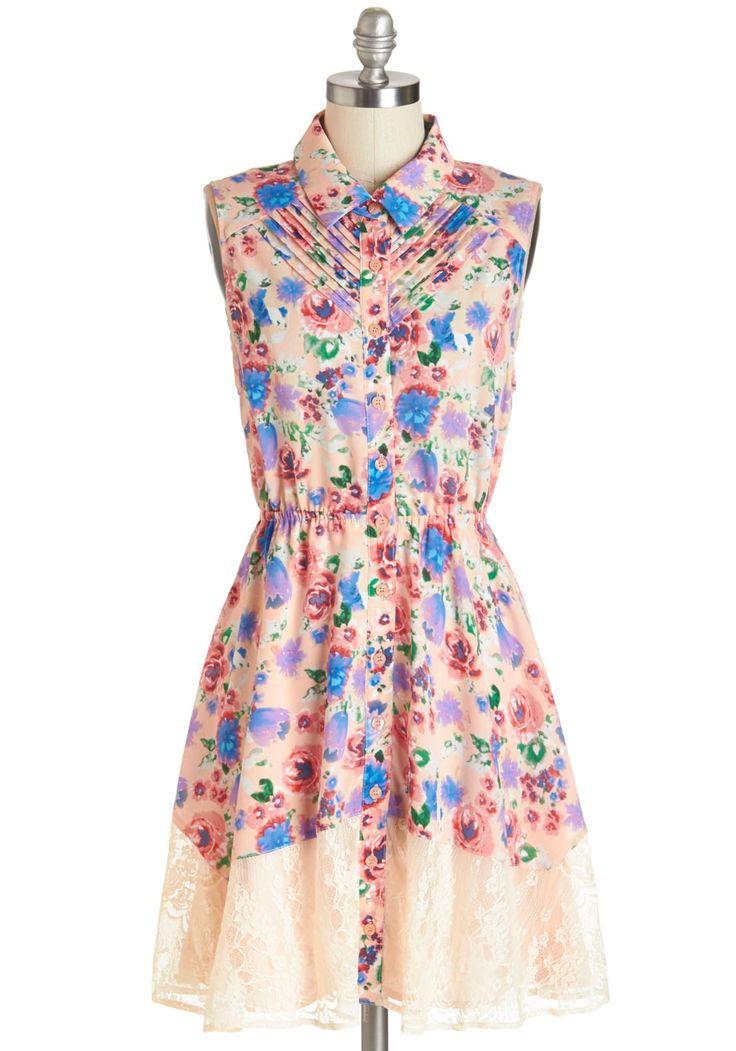 Petit Four the Best Dress. Wonderfully whimsical in this floral dress, you host one of the most delightful tea parties your friends have ever attended!  #modcloth