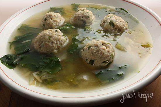 Escarole Soup with Turkey Meatballs (Italian Wedding Soup) - it's the ...