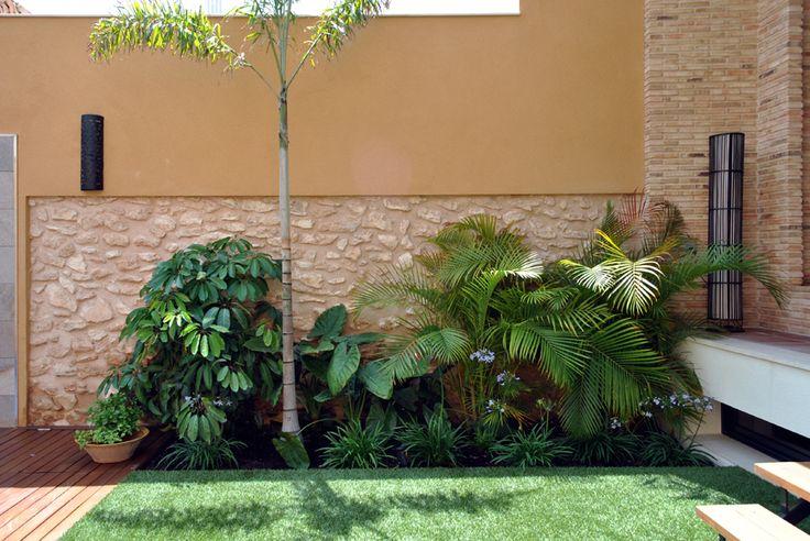 Courtyard garden ferpas pinterest for Courtyard landscaping pinterest
