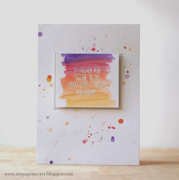 Whatever You Decide Card by Cristina Kowalczyk for Papertrey Ink (February 2014)