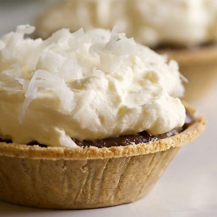 Baby Chocolate Coconut Cream Pies Recipe | balls, truffles, mini dess ...