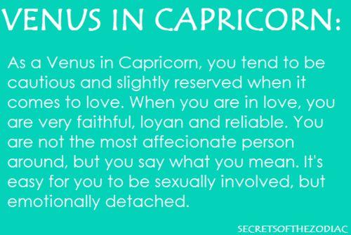 venus signs capricorn