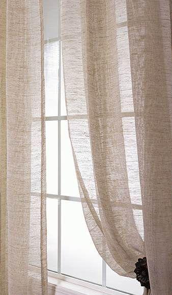 Sheer linen curtains dream home pinterest for Linen sheer window panels
