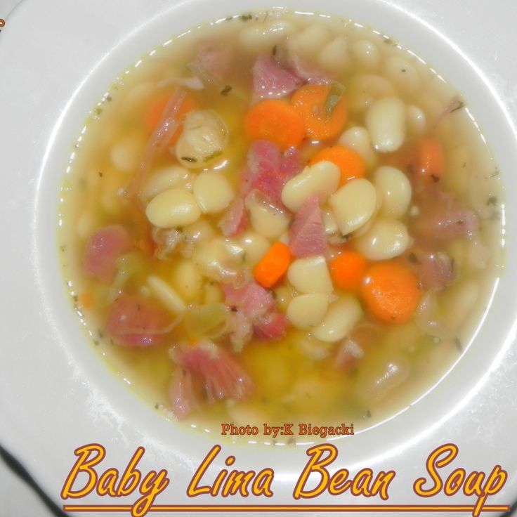 Baby Lima Bean Soup | Ninja 3-in-1 Cooking system recipes | Pinterest