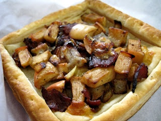 Bacon, Onion, and Apple Tart