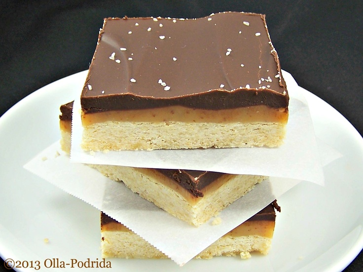 Salted Caramel Chocolate Shortbread Bars | I