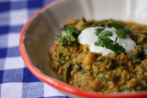 Curried Red Lentil and Swiss Chard Stew with Chickpeas – adapted ...