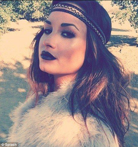 demi lovato bohemian black lipstick