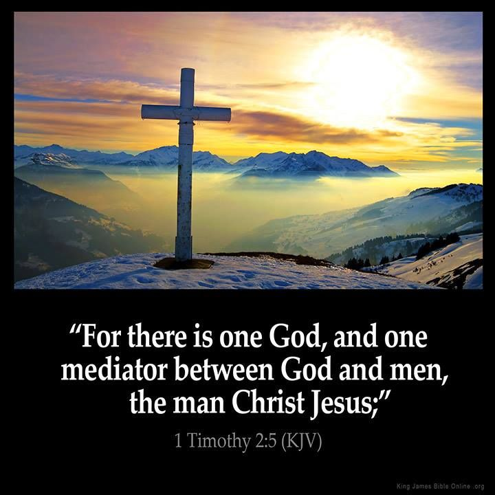"""For there is one God, and one mediator between God and men, the man Christ Jesus""  1 Timothy 2:5"